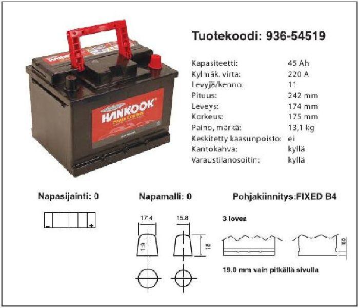 35a5395df43 AKU HANKOOK 12/45 CALCIUM MF - 936-54519 - carparts.ee